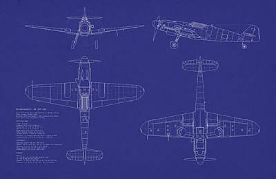 Messerschmitt Me109 Poster by Michael Tompsett