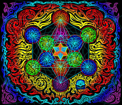 Metatron's Cube Poster by Thome Designs