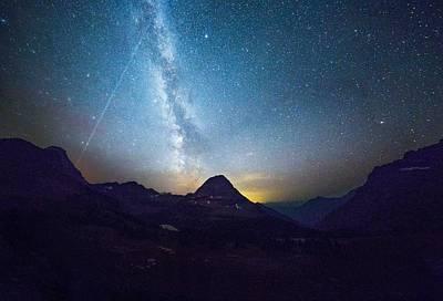 Meteor Shower // Hidden Lake, Glacier National Park Poster by Nicholas Parker