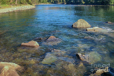 Methow River Flowing Water Landscape Photography By Omashte Poster by Omaste Witkowski