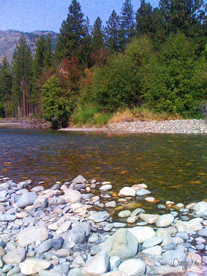 Methow River In Mazama Landscape Photography By Omashte Poster by Omaste Witkowski