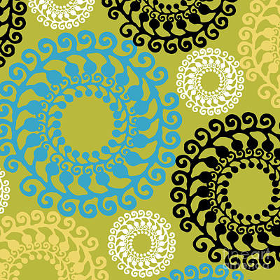 Metro Modern Retro Pattern  Poster by Mindy Sommers