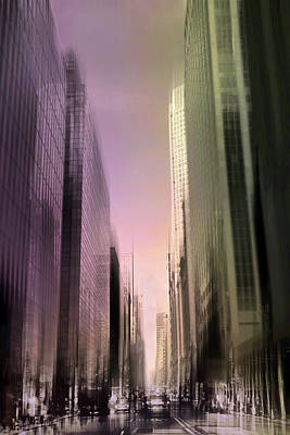 Metropolis Sunset Poster by Jessica Jenney