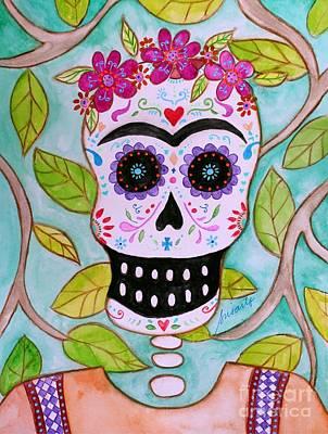 Mi Senora Frida Poster by Pristine Cartera Turkus
