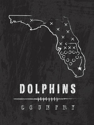 Miami Dolphins Country Poster by Damon Gray