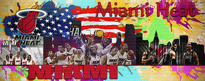 Miami Heat Poster by Don Kuing