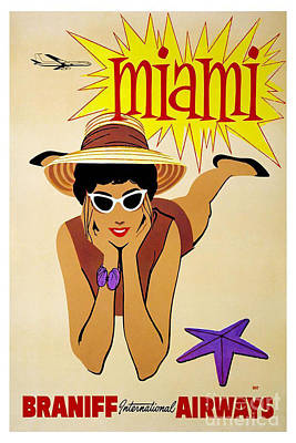 Miami Travel Poster Poster by Pd