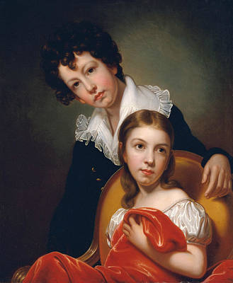 Michael Angelo And Emma Clara Peale Poster by Rembrandt Peale