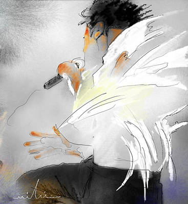 Michael Jackson 08 Poster by Miki De Goodaboom