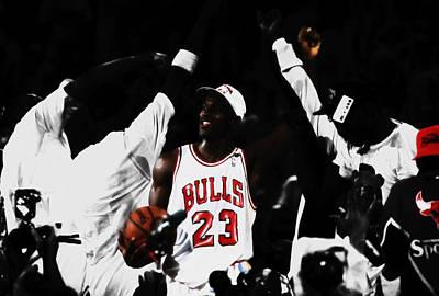 Michael Jordan Champs Again Poster by Brian Reaves
