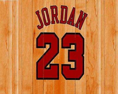 Michael Jordan Hardwood Floor Poster by Brian Reaves