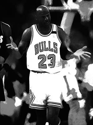 Michael Jordan It Must Be The Shoes Poster by Brian Reaves