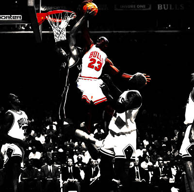 Michael Jordan Not In My House Poster by Brian Reaves
