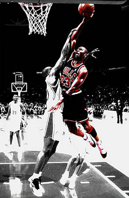 Michael Jordan Over The Top Poster by Brian Reaves