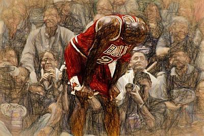 Michael Jordan The Flu Game Poster by John Farr