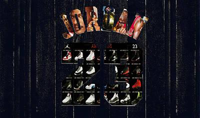 Michael Jordan Wood Art 2j Poster by Brian Reaves
