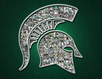 Michigan State Spartans Football Poster by Fairchild Art Studio