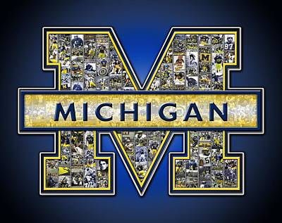 Michigan Wolverines Football Poster by Fairchild Art Studio