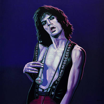 Forty Poster featuring the painting Mick Jagger 3 by Paul Meijering