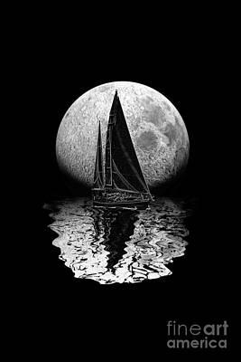 Midnight Sailing Poster by Chris MacDonald