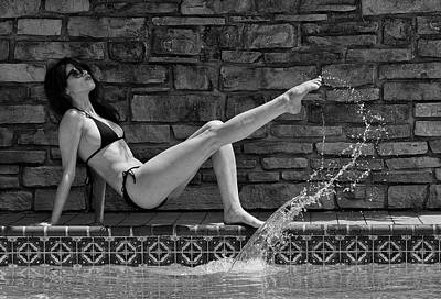 Mika Kicks The Water 1 Poster by Doug Mathewson