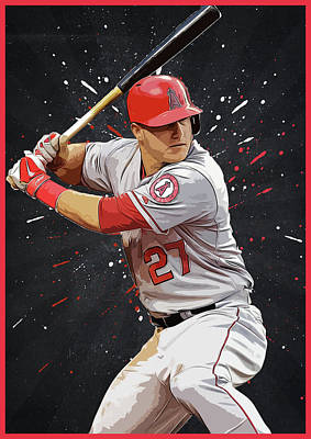 Mike Trout Poster by Semih Yurdabak
