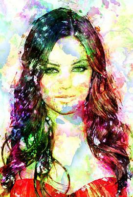 Mila Kunis Poster by Elena Kosvincheva