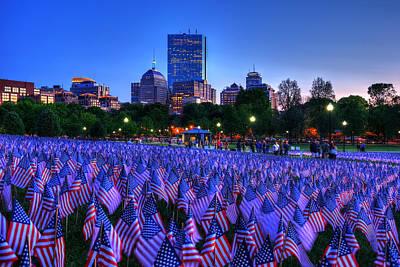 Military Heroes Garden Of Flags - Boston Common Poster by Joann Vitali