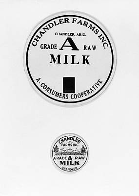 Milk Bottle Caps Poster by Russell Lee