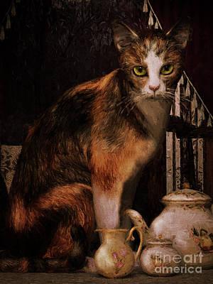 Milk No Sugar Calico Cat Poster by Shanina Conway