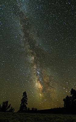 Milky Way From Central Oregon Poster by Angie Vogel