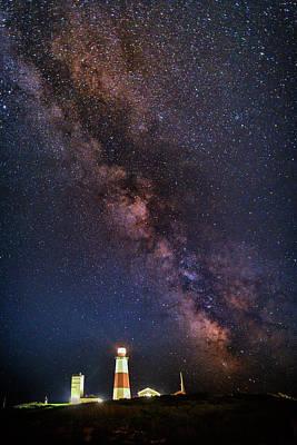 Milky Way Over Montauk Point Poster by Rick Berk