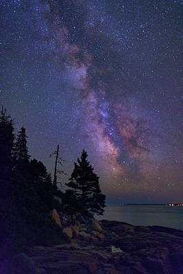 Milky Way Over Otter Point Poster by Rick Berk