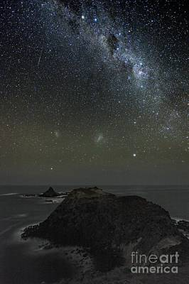 Milky Way Over Phillip Island In Australia Poster by Alex Cherney Terrastro