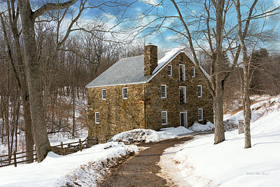 Mill - Cooper Grist Mill Poster by Mike Savad