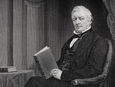 Millard Fillmore 1800 To 1874. 13th Poster by Vintage Design Pics