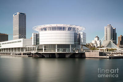 Milwaukee Skyline With Discovery World Picture Poster by Paul Velgos