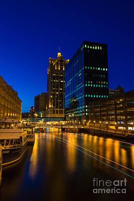 Milwaukee Twilight Glow Poster by Andrew Slater