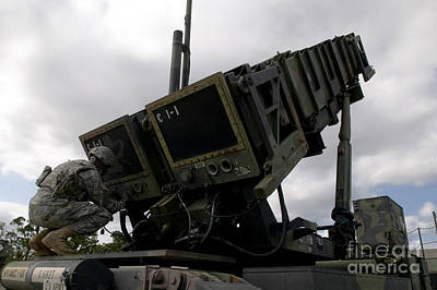 Mim-104 Patriot Missile Launcher Poster by Stocktrek Images