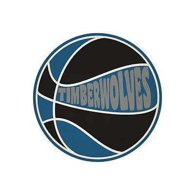 Minnesota Timberwolves Retro Shirt Poster by Joe Hamilton
