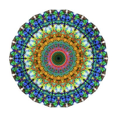 Miracle Mandala Art By Sharon Cummings Poster by Sharon Cummings