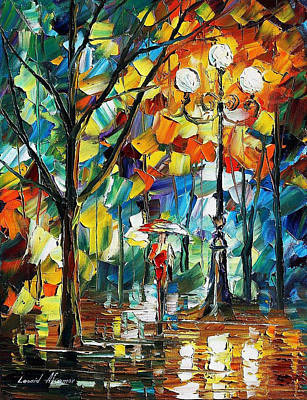 Miracle - Palette Knife Oil Painting On Canvas By Leonid Afremov Poster by Leonid Afremov