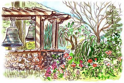 Mission Garden San Louis Obispo Poster by Irina Sztukowski