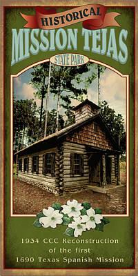 Mission Tejas State Park Poster by Jim Sanders