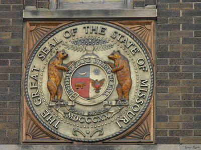 Missouri Great Seal Poster by Ginger Repke