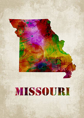 Missouri Poster by Mihaela Pater