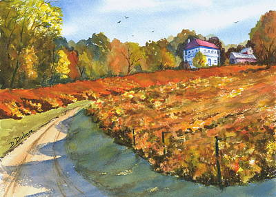 Missouri Vineyard In The Fall Poster by Darrell Dubose