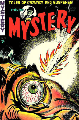 Mister Mystery Comic Book Cover Poster by Halloween Dreams