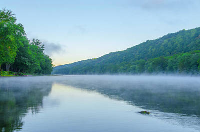 Misty Morning On The Delaware Poster by Bill Cannon