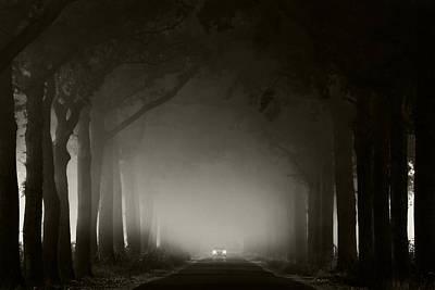 Misty Road Poster by Martin Podt